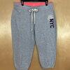เอว36-38 แบรนด์ ATMOSPHERE กางเกงออกกำลังกายคนอ้วน ขาสี่ส่วน ผ้ายืดเนื่อนิ่ม สีเทาอ่อนลายๆ
