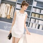 Diamond thick white embossed Dress luxury style