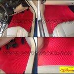 พรมปูพื้นรถยนต์ NEW  camry 2012-15 ลายกระดุม สีแดง 14 ชิ้น เต็มคัน