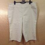 เอว38-42 แบรนด์ d&CO. กางเกงคนอ้วน ผ้ายีนส์หนาเนื้อดี สวยมาก ขาสี่ส่วน สีเหลืองครีม