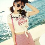 Set Sweety Blouse match with Tiny Red Stripy Skirt by Seoul Secret