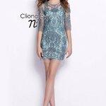 Cliona made' Nora Luxury Lace Dress - Mini Dress Blue