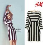 Dress Black&white H&M [ขายส่ง 550.-]