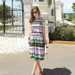 Cliona made' CoCo Korean Summer Long Dress Long Dress