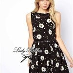 Lovely Daisy Blooming Summer Mini Dress