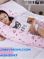 หมอนตัว U ตัวใหญ่ นอนสบาย คุณแม่ท้องใหญ่นอนได้สบายค่ะ ช่วยให้คุณแม่นอนหลับสบายมากยิ่งขึ้นค่ะ ปลอกสามารถถอดออกมาซักได้ค่ะ  (ส่งฟรีค่ะ)