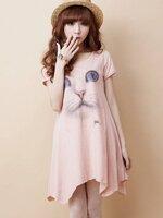 เสื้อคุลมท้องสีชมพู สกรีนรูปแมวเมียวด้านหน้า ผ้านิ่มใส่สบาย น่ารักมากๆค่ะ